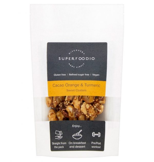 Superfoodio Sweet Clusters - Cacao Orange Turmeric