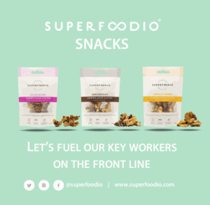 Superfoodio Snacks Fuel Key Workers